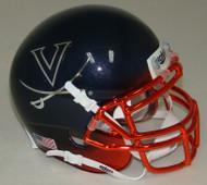 Virginia Cavaliers Alternate Navy Chrome Schutt Mini Authentic Helmet