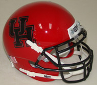 Houston Cougars Alternate Red Black Schutt Mini Authentic Helmet