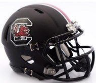 South Carolina Gamecocks Matte Black Revolution SPEED Mini Helmet