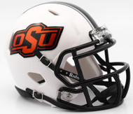 Oklahoma State Cowboys 2016 White NCAA Riddell Speed Mini Helmet