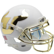 South Florida Bulls Alternate White and Gold Chrome Schutt Mini Authentic Helmet