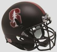 Stanford Cardinal 2015 Alternate Black Tree Schutt Full Size Replica Helmet