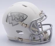NFL Kansas CITY Chiefs Riddell Ice Alternate Speed Mini Replica Helmet