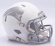 NFL New England Patriots Riddell Ice Alternate Speed Mini Replica Helmet