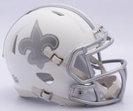 NFL New Orleans Saints Riddell Ice Alternate Speed Mini Replica Helmet