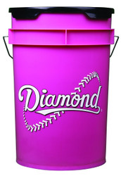 Diamond 6 Gallon Bucket With Padded Lid Black BKT PK