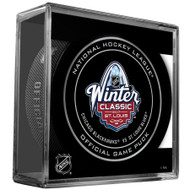 2017 Winter Classic Sherwood Official NHL Game Puck in Cube