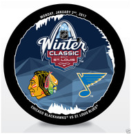 2017 Winter Classic NHL Dueling Sherwood Souvenir Puck