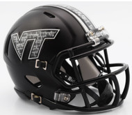 Virginia Tech Hokies Matte Black NCAA Riddell Speed Mini Helmet