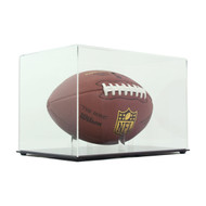 DELUXE ECONOMY FULL SIZE FOOTBALL DISPLAY CASE with CLEAR TOP
