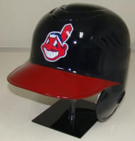 Cleveland Indians Chief Wahoo Red Bill Rawlings Left Ear Cover Coolflo Full Size Baseball Batting Helmet