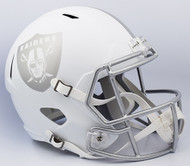 Oakland Raiders ALTERNATE ICE SPEED Riddell Full Size Replica Helmet