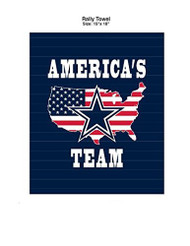 "Dallas Cowboys America's Team 15"" x 18"" Rally Towel"
