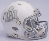 NFL Super Bowl LI (51) Riddell Ice Alternate Speed Mini Replica Helmet