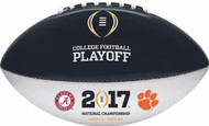 2017 COLLEGE FOOTBALL PLAYOFF OFFICIAL SIZE AUTOGRAPH DUELING FOOTBALL