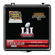 Super Bowl LI (51) Commemorative Lapel Pin Set - Limited Edition of only 1000 made