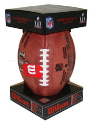 Super Bowl LI (51) Falcons vs. Patriots Official Leather Authentic Game Football by Wilson