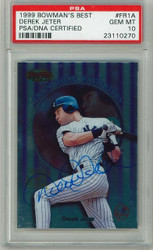 1999 Derek Jeter Bowman's Best Franchise Favorites Card PSA Graded Gem Mint 10