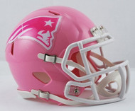 New England Patriots PINK Revolution Speed Mini Football Helmet