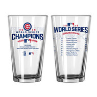 Chicago Cubs 2016 World Series Champions Official 16 oz. Roster Pint Glass