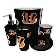 Cincinnati Bengals NFL Complete Bathroom Accessories 5pc Set
