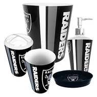 Oakland Raiders 5 Piece Bathroom Set
