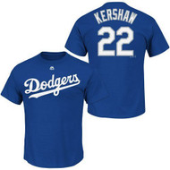 Clayton Kershaw #22 Los Angeles Dodgers MLB Youth Name & Number Player T-shirt