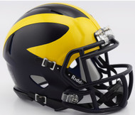 Michigan Wolverines (Low Gloss) NCAA Riddell Speed Mini Helmet