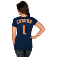 Carlos Correa Houston Astros #1 MLB Women's Player Name & Number T-shirt