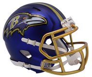 Baltimore Ravens Riddell Speed Mini Helmet - Blaze Alternate