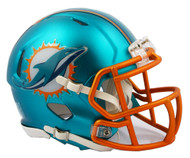 Miami Dolphins Riddell Speed Mini Helmet - Blaze Alternate