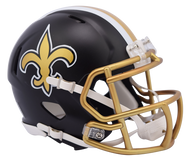New Orleans Saints Riddell Speed Mini Helmet - Blaze Alternate 2017