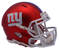 New York Giants Riddell Speed Mini Helmet - Blaze Alternate