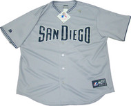 San Diego Padres Road Gray Majestic MLB Men's Official Jersey