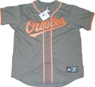 Baltimore Orioles Charcoal Gray Majestic MLB Men's Official Jersey