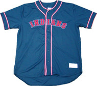 Cleveland Indians Navy Blue MLB Men's Official Jersey