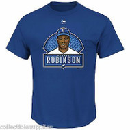 Dodgers Jackie Robinson Franchise Headliner Majestic Men's T-Shirt