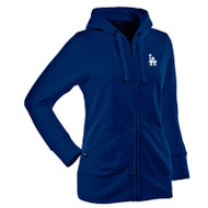 Women's Los Angeles Dodgers Sweatshirt Hoodie Full Zipper Jacket Hood for Ladies - SMALL ONLY
