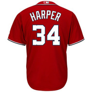 Bryce Harper Washington Nationals #34 MLB Men's Cool Base Alternate RED Jersey