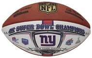 Wilson New York Giants Super Bowl XLVI Champions 4-Time Champions Full-Size Football
