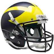 Michigan Wolverines Alternate Satin Blue Schutt Full Size Replica Helmet