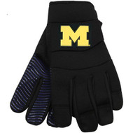 NCAA Michigan Wolverines Black Deluxe Utility Work Gloves