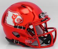 Louisville Cardinals Red Chrome NCAA Riddell SPEED Mini Helmet