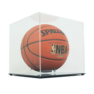 DELUXE ECONOMY FULL SIZE BASKETBALL DISPLAY CASE with CLEAR TOP