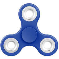 Classic Tri-Arm Fidget Hand Spinner Finger Toy for Anxiety Stress Relief (Blue with Chrome)
