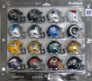 16 NFL Pocket Pro Size Speed Mini Helmets - 2017 NFC Set by Riddell
