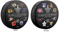 2017 NHL STANLEY CUP PLAYOFFS SOUVENIR PUCK with ALL 16 PARTICIPATING TEAMS