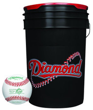 Diamond 6-Gallon Ball Bucket with 30 DPL-1 Pony League Baseballs