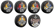 2017 Pittsburgh Penguins NHL Stanley Cup Champions Sherwood (6) Six Souvenir Puck Set