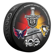 2017 NHL Stanley Cup Playoff Round 2 Pittsburgh Penguins vs. Washington Capitals Dueling Souvenir Puck